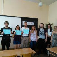 Награждаване на ученици взели участие в Кеймбридж училищата